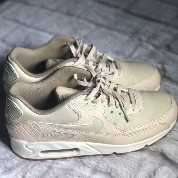 Nike Air Max 90 Premium Womens Oatmeal Khaki